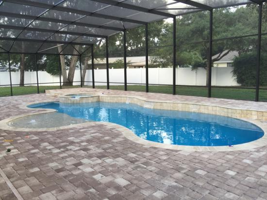 Pool Spa screen deck pavers